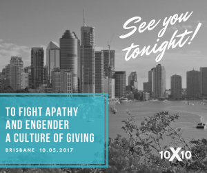 To fight apathy and engender a culture of giving